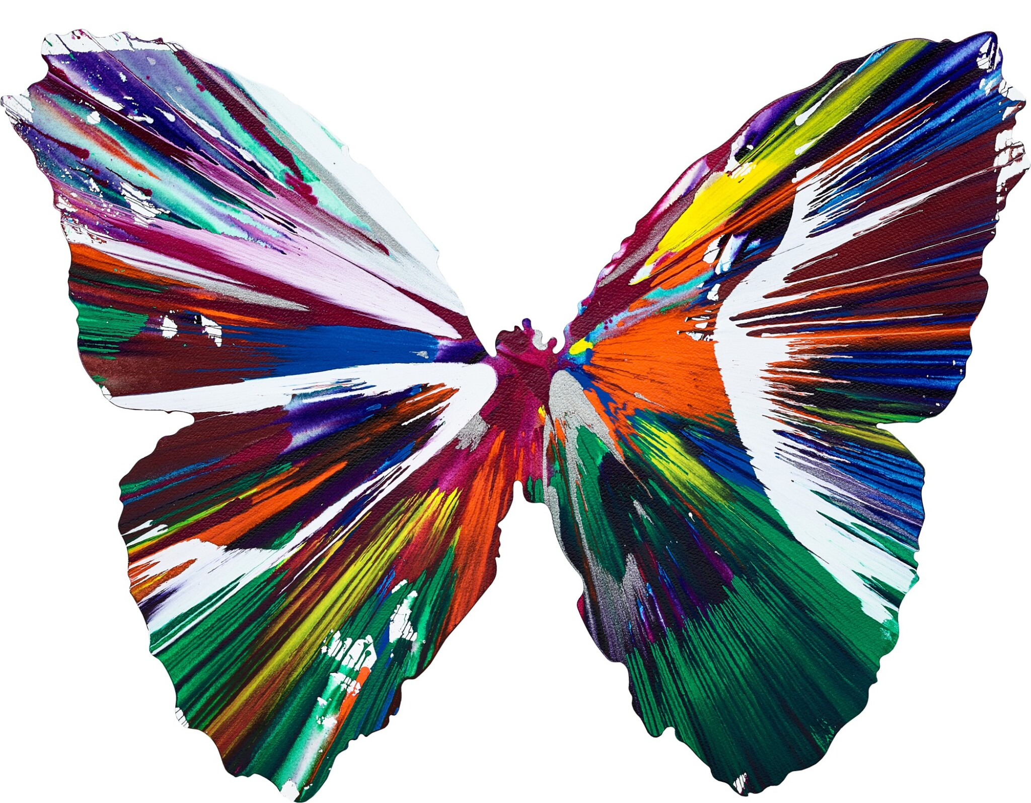 View full screen - View 1 of Lot 147. Damien Hirst 達米恩・赫斯特 | Untitled (Butterfly Spin Painting) 無題(蝴蝶旋轉畫).