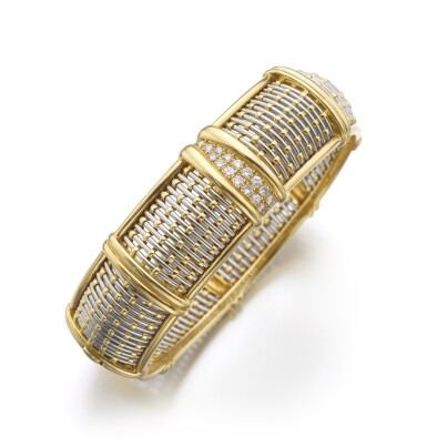 GOLD, STEEL AND DIAMOND BANGLE | CARTIER