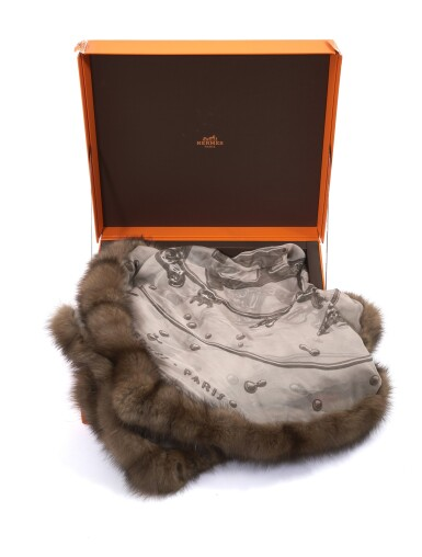 Silk and sable scarf 'Vif Argent', Hermès, 2007