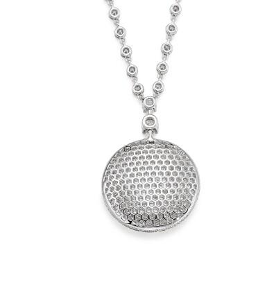 GRAFF | 'DIAMOND ON DIAMOND' DIAMOND PENDENT NECKLACE | 格拉夫| 'Diamond on Diamond'  鑽石項鏈