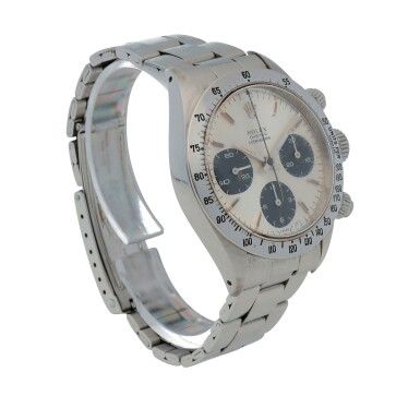 View 3. Thumbnail of Lot 426. 'Sigma Dial' Daytona, Ref. 6265 Stainless steel chronograph wristwatch with bracelet Circa 1973 | 勞力士 6265型號「'Sigma Dial' Daytona」精鋼計時鍊帶腕錶,年份約1973.