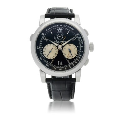 View 1. Thumbnail of Lot 309. DOUBLE SPLIT FLYBACK PLATINUM DOUBLE SPLIT FLYBACK CHRONOGRAPH WRISTWATCH WITH POWER RESERVE INDICATION CIRCA 2015.