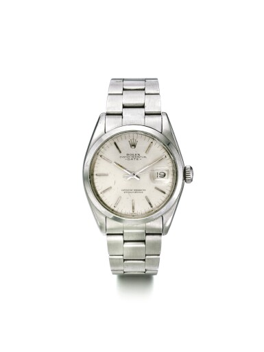 ROLEX | DATE REF 1500 A STAINLESS STEEL AUTOMATIC CENTER SECONDS WRISTWATCH WITH DATE CIRCA 1968