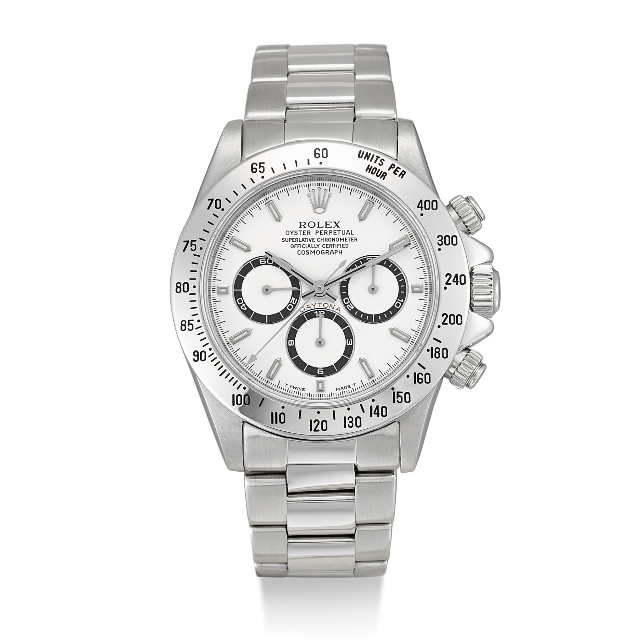 View full screen - View 1 of Lot 165. ROLEX | COSMOGRAPH DAYTONA, REFERENCE 16520, A STAINLESS STEEL CHRONOGRAPH WRISTWATCH WITH BRACELET, CIRCA 1996.