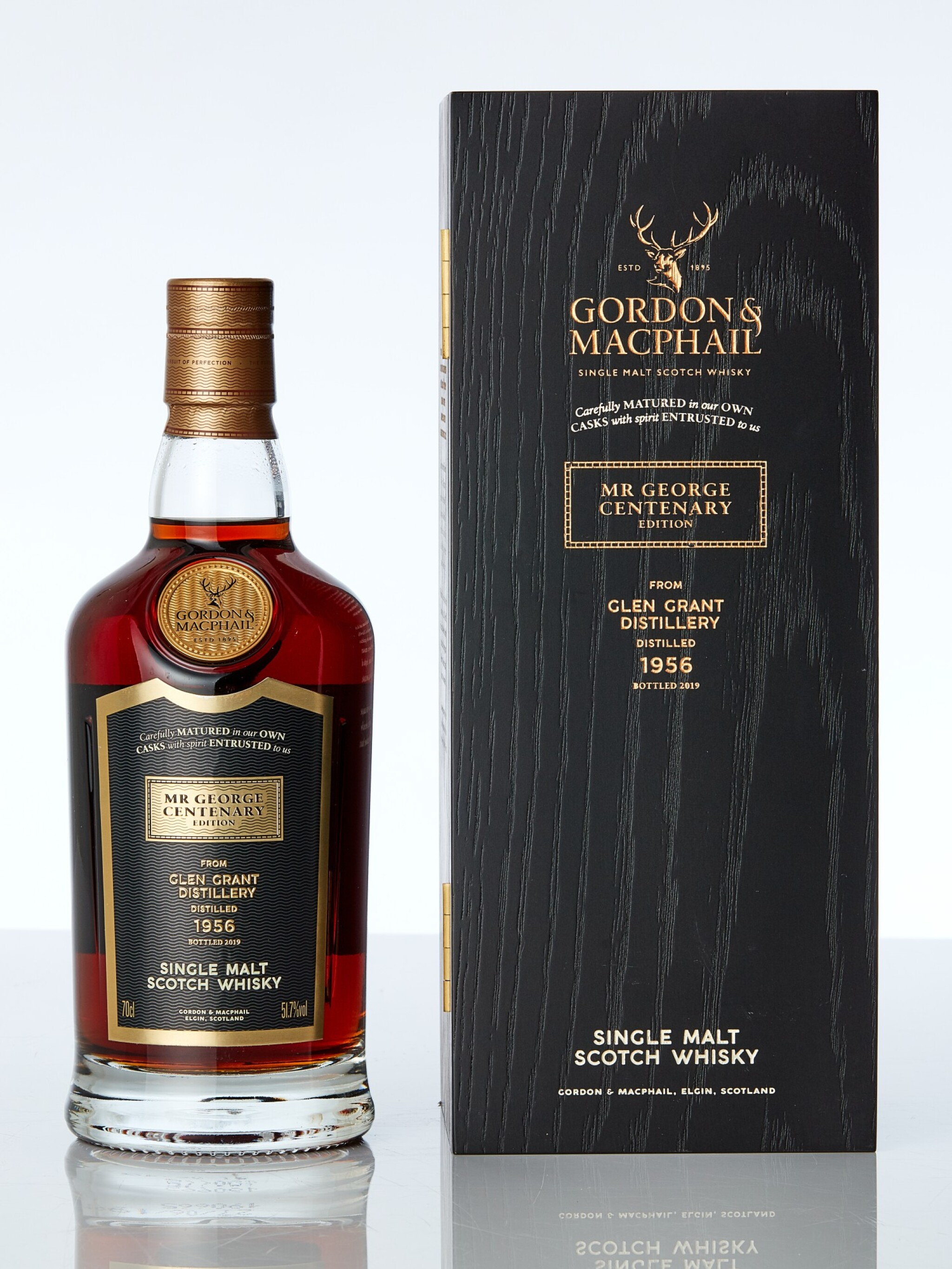 View full screen - View 1 of Lot 7617. Glen Grant Gordon & MacPhail 62 Year Old Mr. George Centenary Edition 51.7 abv 1956 (1 BT70).