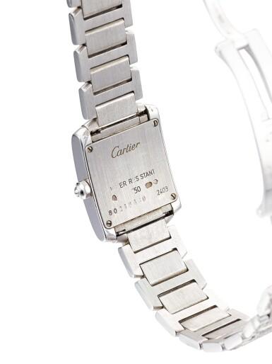 View 3. Thumbnail of Lot 1617. 'Tank Française' Diamond Wristwatch | 卡地亞 | 'Tank Française' 鑽石腕錶.