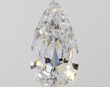 A 1.00 Carat Pear-Shaped Diamond, F Color, SI2 Clarity