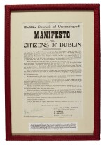 [O'FLAHERTY] | Manifesto to Citizens of Dublin, [1922]
