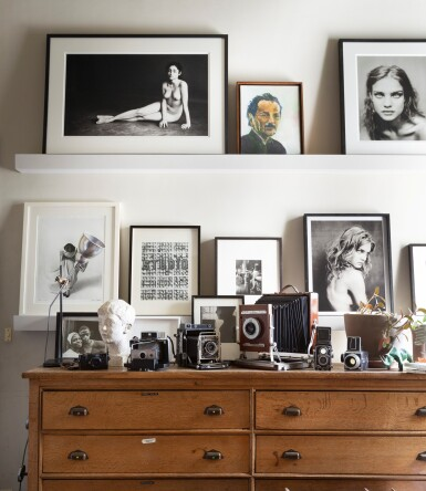 View 6. Thumbnail of Lot 9. Large format Studio Camera of Paolo Roversi, L.F. Deardroff & Sons Wood Field.