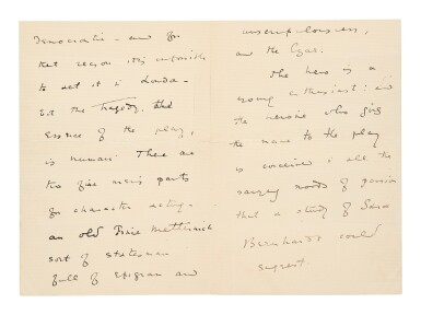View 2. Thumbnail of Lot 177. Wilde, Oscar | A previously unlocated letter showing Wilde's earliest efforts to have his plays staged.