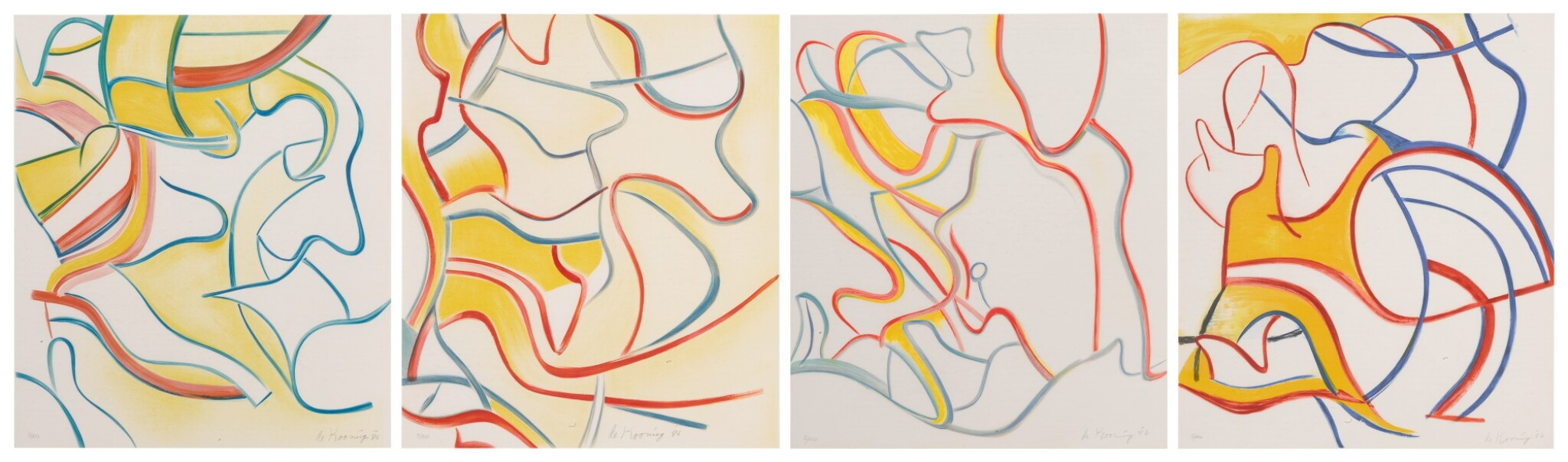 View full screen - View 1 of Lot 2.  WILLEM DE KOONING | QUATRE LITHOGRAPHIES.