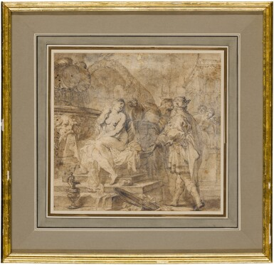 View 2. Thumbnail of Lot 92. Susanna and the Elders.