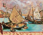 LOUIS VALTAT | BARQUES À PORT EN BESSIN