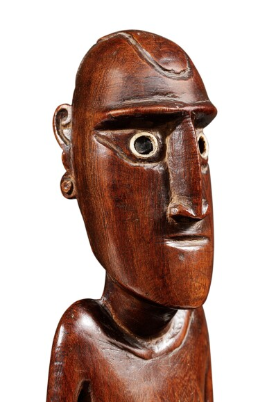 View 7. Thumbnail of Lot 64. Statue, Moai Papa, Île de Pâques | Moai Papa figure, Easter island.