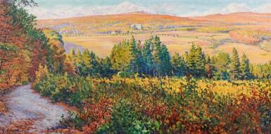 View 1. Thumbnail of Lot 108. Paysage, effets d'automne à Mandres.
