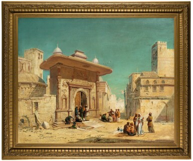 View 2. Thumbnail of Lot 14. JAMES WEBB   THE ST. SOPHIA GATE, CONSTANTINOPLE.