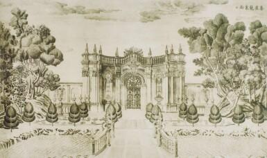 View 34. Thumbnail of Lot 362. A SET OF TWENTY PRINTS OF PALACES, PAVILIONS AND GARDENS AT YUANMING YUAN | 巴黎、1977年 《郎世寧圓明園西洋樓》 一組二十幅 水墨紙本.