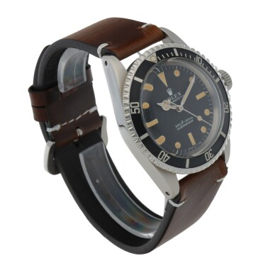 View 3. Thumbnail of Lot 403. SUBMARINER, REF 5513 STAINLESS STEEL WRISTWATCH CIRCA 1966.