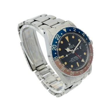 View 3. Thumbnail of Lot 7. ROLEX | REFERENCE 1675 GMT-MASTER 'PEPSI'  A STAINLESS STEEL AUTOMATIC DUAL TIME WRISTWATCH WITH DATE AND BRACELET, CIRCA 1970.