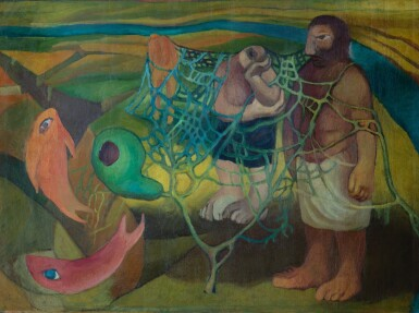 MAHER RAIF | UNTITLED (THE FISHERWOMAN AND THE NET)