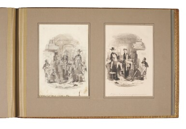 [Browne], five original pencil and wash drawings for Martin Chuzzlewit, [c. 1844]