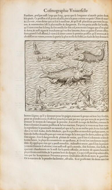View 6. Thumbnail of Lot 197. THEVET. La Cosmographie universelle... Paris, 1575. 2 vol. in-folio. Reliure de l'époque..