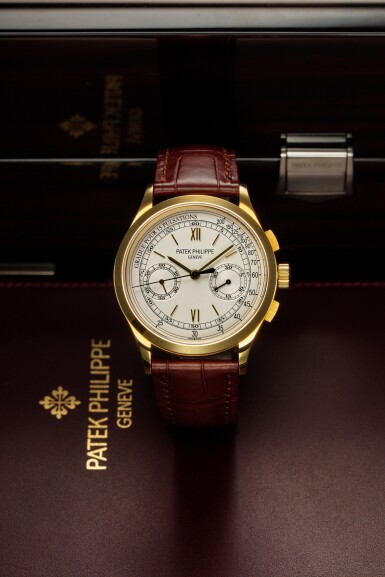 View 2. Thumbnail of Lot 355. Reference 5170  A yellow gold chronograph wristwatch with pulsation scale, Made in 2011 .
