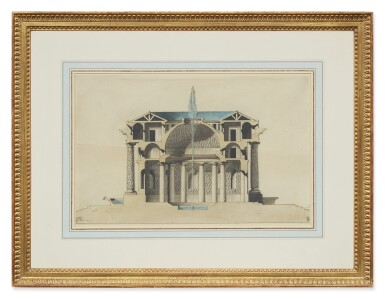 View 2. Thumbnail of Lot 147. Sold Without Reserve    L.S. TAINE   DESIGN FOR A TEMPLE D'EAU.