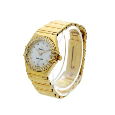 View 2. Thumbnail of Lot 28. Reference 895 1243 Constellation  A yellow gold and diamond-set bracelet watch with mother-of-pearl dial, Circa 1998 .
