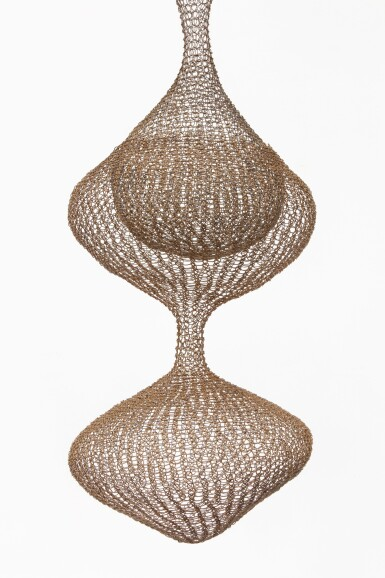View 2. Thumbnail of Lot 11. RUTH ASAWA   UNTITLED (S.267, HANGING SIX-LOBED, FOUR PART, DISCONTINUOUS SURFACE, WITH INTERIOR FORMS IN THE THIRD, FOURTH, AND FIFTH LOBES).
