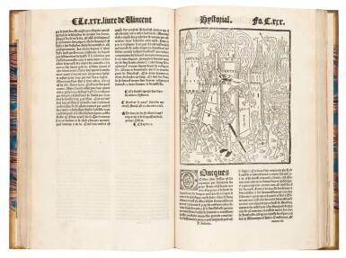 View 1. Thumbnail of Lot 261. Vincent of Beauvais, Le cinquiesme volume... Miroir historial, Paris, 1531, later half vellum.