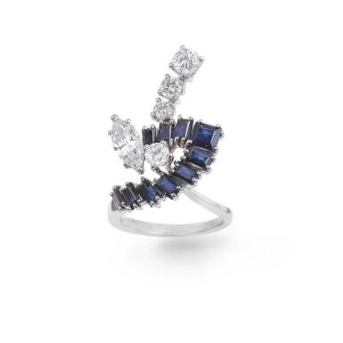Sapphire and diamond ring [Bague saphirs et diamants]