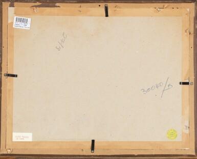 View 6. Thumbnail of Lot 27. AUGUSTE PÉGURIER | THREE VIEWS OF SAINT-TROPEZ: (I) LA PONCHE  (II) PORT ET VOILIERS  (III) LAURIER ROSE.
