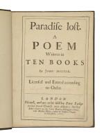 MILTON, JOHN | John Milton. Paradise Lost. London: [Samuel Simmons for] Peter Parker, Robert Boulter, Matthias Walker, 1667