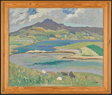 View 2. Thumbnail of Lot 1. LETITIA MARION HAMILTON, R.H.A. | CARRYGART, CO. DONEGAL, ERRIGAL MOUNTAIN IN THE DISTANCE.