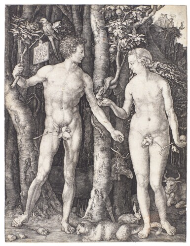 ALBRECHT DÜRER | ADAM AND EVE (B., M., HOLL. 1)