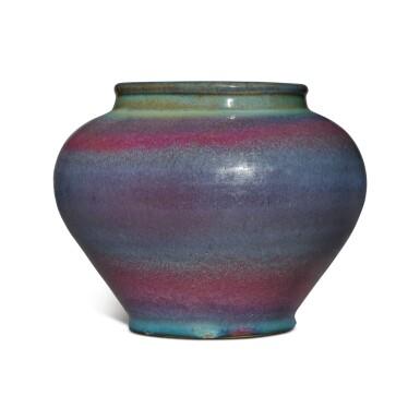 View 4. Thumbnail of Lot 197. A 'Jun' purple-splashed jar, Yuan / Ming dynasty | 元 / 明 鈞窰天藍釉紫斑罐.