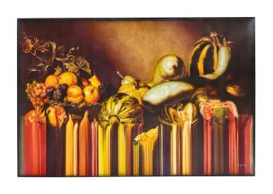 ROLANDO (OLAN) VENTURA | STILL LIFE WITH FRUITS ON A STONE LEDGE