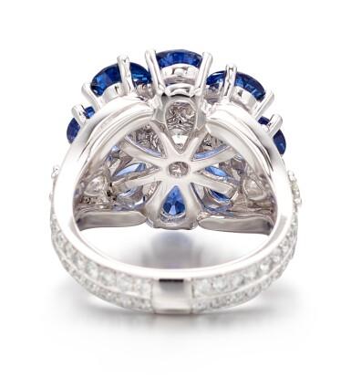 View 3. Thumbnail of Lot 1021. Diamond and Sapphire Ring | 格拉夫| 鑽石 配 藍寶石 戒指 (鑽石及藍寶石共重約2.10及6.20克拉).