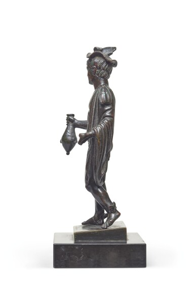 View 4. Thumbnail of Lot 124. A Roman Bronze Figure of Hermes, circa 2nd Century A.D..