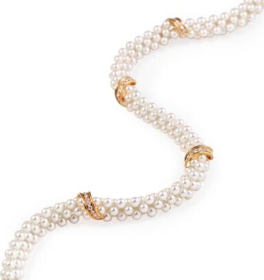 Cartier, Cultured pearl and diamond necklace [Collier perles de culture et diamants]