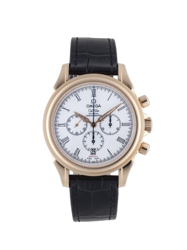 OMEGA | DE VILLE CO-AXIAL, REF 46432032 LIMITED EDITION PINK GOLD CHRONOGRAPH WRISTWATCH WITH DATE  CIRCA 2002