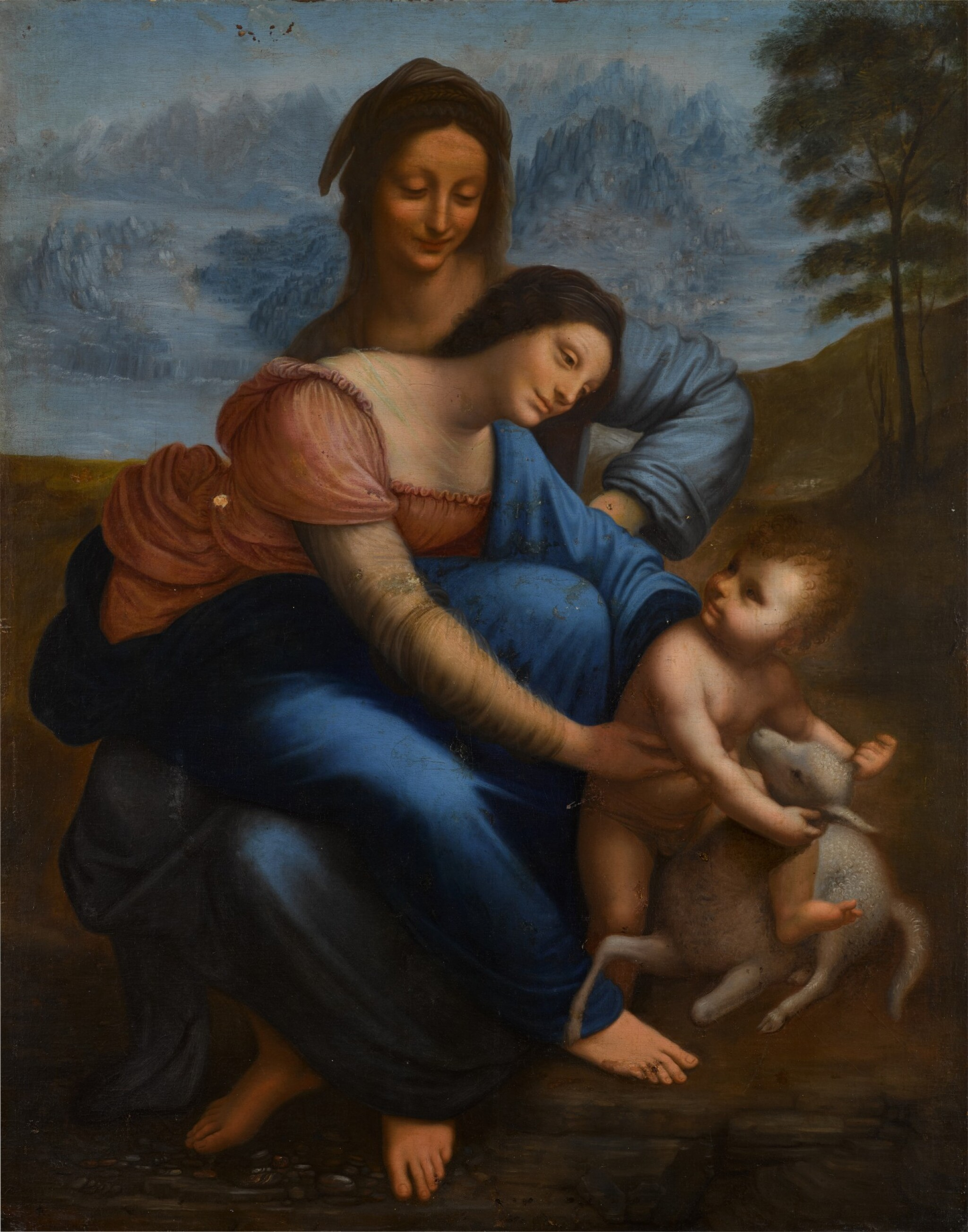 View full screen - View 1 of Lot 116. The Virgin and Child with Saint Anne.