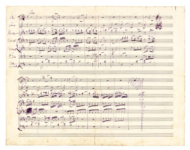 View 2. Thumbnail of Lot 10. J. Brahms. The correspondence with Ernst Rudorff, 16 letters with replies, and an autograph music manuscript 1865-1887.