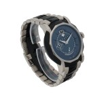 GRAFF | GRAFFSTAR GRANDE DATE, REF GS45DLCWG   WHITE GOLD AND DLC-COATED STAINLESS STEEL WRISTWATCH WITH DATE, POWER RESERVE INDICATION AND BRACELET, CIRCA 2000