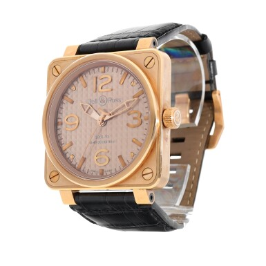 View 2. Thumbnail of Lot 9315. Bell & Ross | Gold Ingot, Reference BR01-92-R, A limited edition pink gold wristwatch, Circa 2015 | Gold Ingot 型號BR01-92-R   限量版粉紅金腕錶,約2015年製.