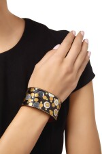 IRON LACQUER, SILVER AND GOLD 'DAMASCENE' CUFF-BRACELET, ANGELA CUMMINGS FOR TIFFANY & CO.