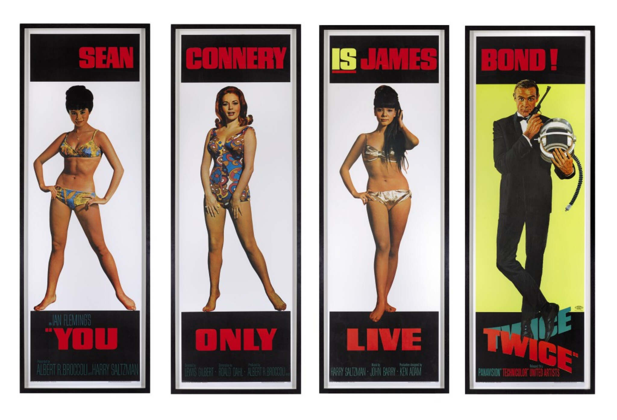 View 1 of Lot 69. YOU ONLY LIVE TWICE (1967) SET OF 4 DOOR PANELS, US  .