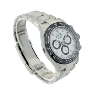View 3. Thumbnail of Lot 16.  ROLEX | REFERENCE 116500 DAYTONA   A STAINLESS STEEL AUTOMATIC CHRONOGRAPH WRISTWATCH WITH BRACELET, CIRCA 2017 .