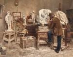 EVERT PIETERS   The Sculptor Alphonse van Beurden in his Studio